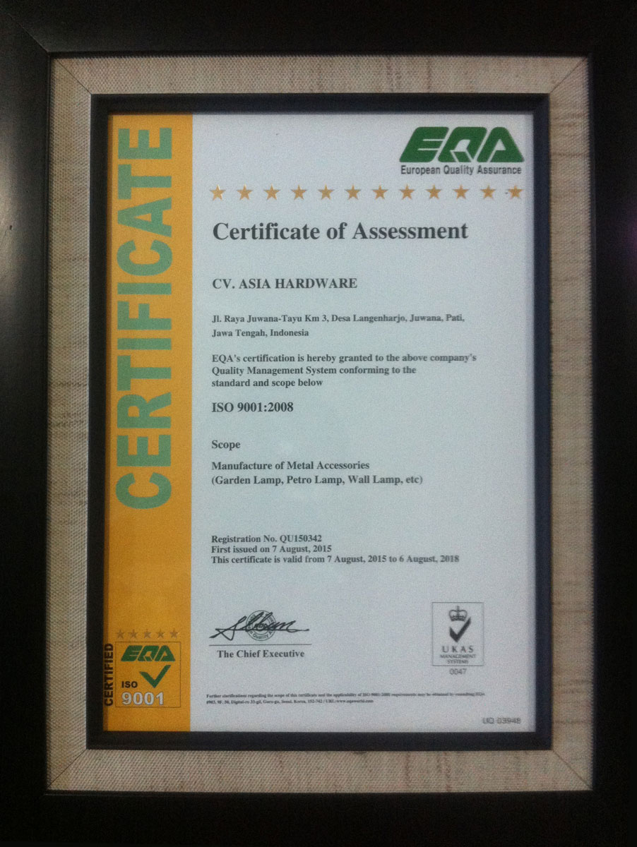 European-Quality-Assurance-certification