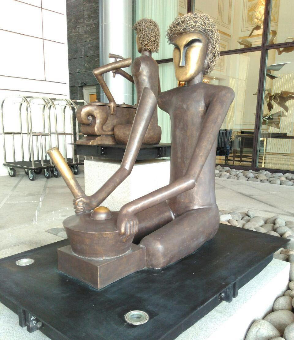 metal art statue indonesia
